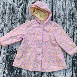 Gymboree Pink Yellow Sunflower Raincoat